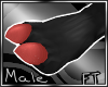 (M)Red Cloven Hooves[FT]