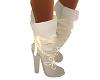 Cream & Gold Boots