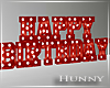 H. Marquee Red Birthday
