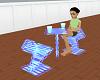 club blue table set 2