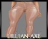 [la] Beige latex pants
