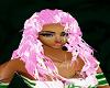 pink white long curls