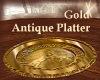 Gold Antique Platter