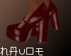 Ⓝ. Red Vintage Pumps