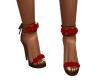 Red Rose Brown Heels