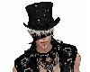 Gothic Hat Wh. Hair