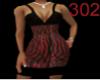302 red tiger dress