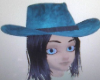 Cowgirl Hat w/black Hair