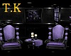 T.K  Twin purple Thrones