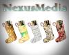 5 Christmas Stockings