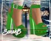 !SB Xmas Green Shoes