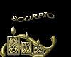 sticker scorpio gold