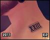 Ez  Neck Tattoo