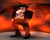 Mens Black Horns Tail Dragon Fire Goth