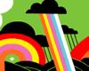 Retro Rainbow Storm