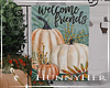 H. Welcome Friends Fall Flag