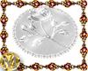 silver round rug