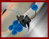 bracelet blue flowers L