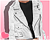 White Leather Jacket e