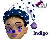 Indigo Dots Hat