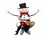 Christmas Snowman Kiss
