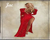 *J * RED SPARKLE GOWN