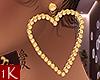 !1K Gold Heart Earrings