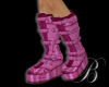 [B]pink strapped boots