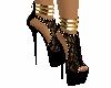 zapato negro dorado