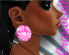 *C* Earrings Pink Leopar
