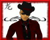 (J) blk drk red hat