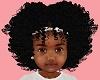 Kids Afro + bow white