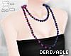 Y' Drv. Bead Necklace A