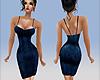 Little Blue Velvet Dress