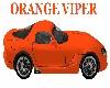 Viper Orange Sports Car