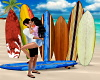 Surf Boards-Couples Pose