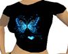 CJ69 Blue Butterfly Tee