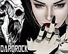 DARK Black Nails+Rings
