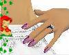 purple  blush nails