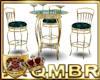 QMBR Bar Table Teal&Gold
