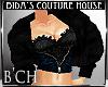 (B'CH) Black fur coat
