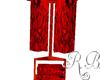 Red towel rack