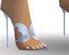 Blue Butterfly heels