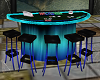 Teal Casino Card Table