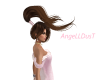 Windy hair brown