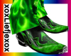 [L] Green Flame boots