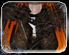 -die- Blue fur cloak