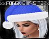 BLUE CHRISTMAS SANTA HAT