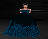 GL-Blue Feather Gown