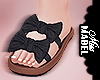 ! Bow Tie Sandal Black